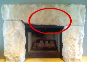 fireplace stone mantle - after